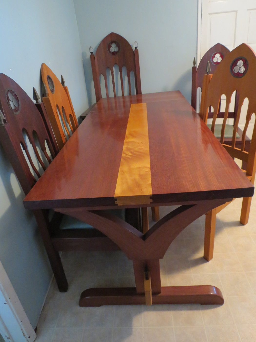 Dining Table - Purple Heart and Pao Amarillo